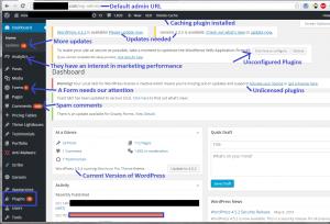 WordPress Dashboard Problems